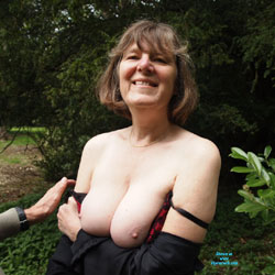 Outdoors In Spring In The UK - Big Tits, Nature