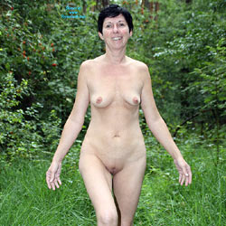 A Little Walk In The Woods - Brunette Hair, Nude In Public, Shaved