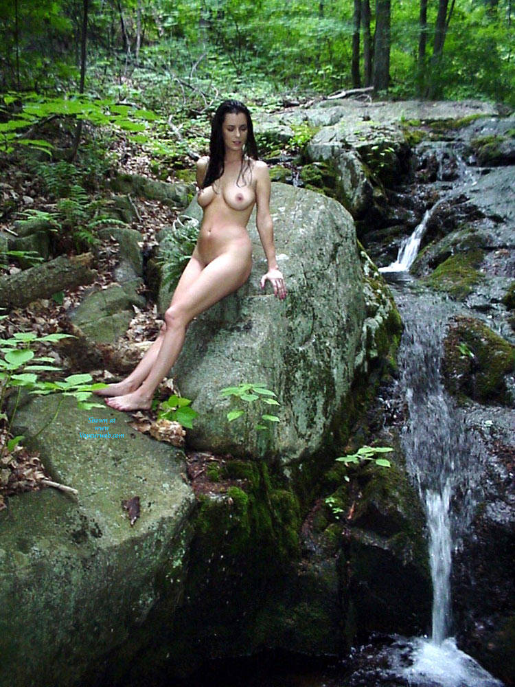 Pic #1 - Woods And Water Thanks! - Big Tits, Brunette Hair, Natural Tits, Nude In Public, Shaved , Beautiful Woman, Outdoors, Nude, Sexy Body, Brunette, Big Natural Tits. Long Legs
