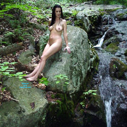 Woods And Water Thanks! - Natural Tits, Brunette, Big Tits, Nature, Shaved