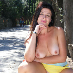 Park And Viko - Big Tits, Brunette, Flashing, Public Exhibitionist, Public Place, Shaved