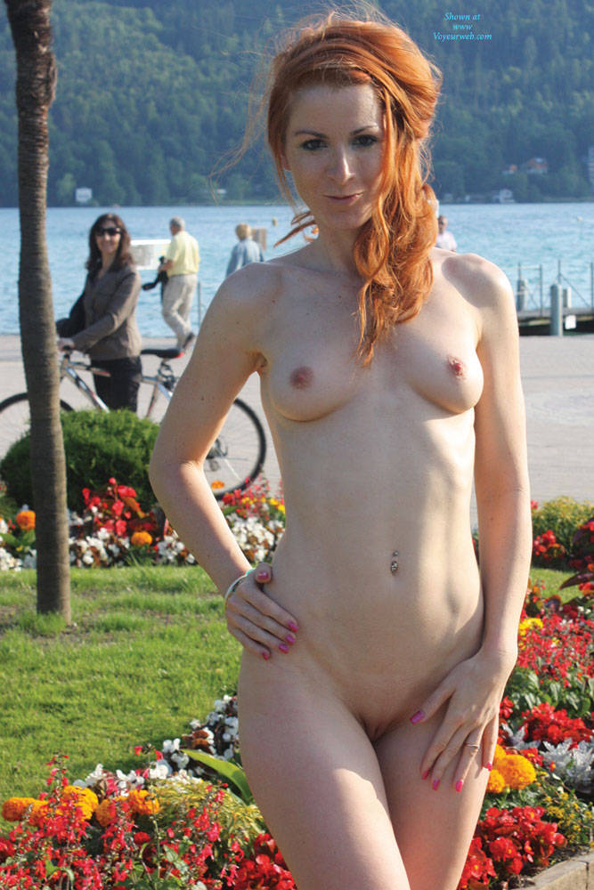 Pic #10 Vienna Relaxing Afternoon - Big Tits, Flashing, Public Exhibitionist, Public Place, Redhead, Shaved