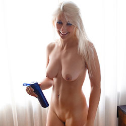 Preparing And Shaving - Big Tits, Blonde Hair , Blonde Babe, Horny, Shaving Pussy, Nude, Sexy