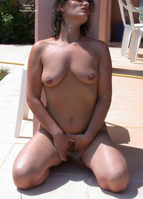 Pic #1 - Nude Touches Herself Pussy In Shadow - Black Hair, Brunette Hair, Milf, Perfect Tits, Perky Tits, Shaved Pussy, Small Tits, Naked Girl, Nude Amateur , Medium Sized Tits, Tanned Skin, Curly Wet Black Hair, Nude Girl Kneeling, Small Round Nipples, Small Perky Tits, Nude Girl In Sunlight On Patio