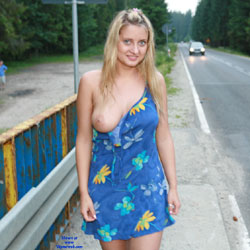 River Trip - Big Tits, Blonde, Flashing, Public Exhibitionist, Public Place, Shaved