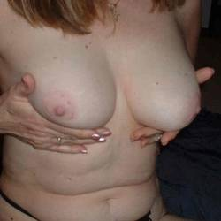 Medium tits of my wife - joanne