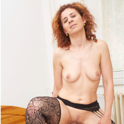 Lena's First RC Photo - Big Tits, Heels, Redhead, Sexy Lingerie, Penetration Or Hardcore