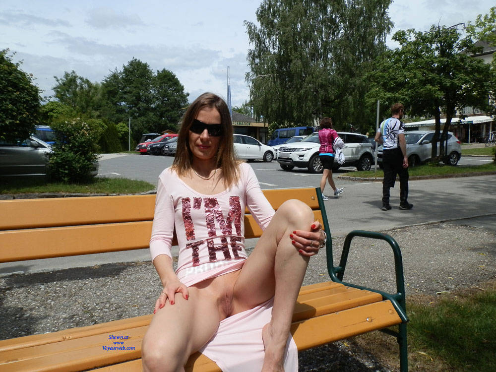 At The Worther Lake - Exposed In Public, Flashing, Nude In Public, Shaved ,  Nude In Public, Public Nudity, Getting Undressed, Nude, Naked In Public