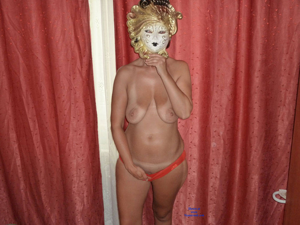 Pic #1 - Mask - Big Tits, Natural Tits, Shaved, Wife/Wives , Amateur, Brunette, Shaved Pussy, Bi Tits, Natural Tits.