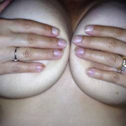 Large tits of my wife - Brenda
