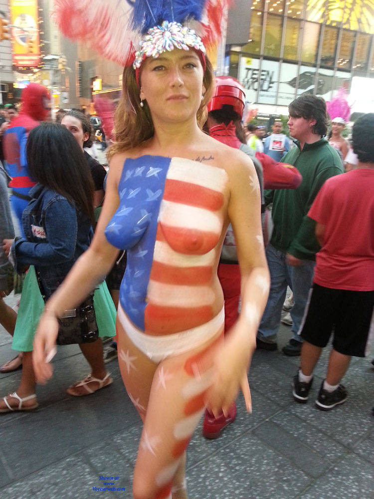 Pic #1 - Body Paint - Big Tits, Nude In Public , Times Square Girls