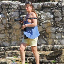 Tourist At A Mayan...