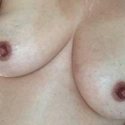 Medium tits of my girlfriend - Kris