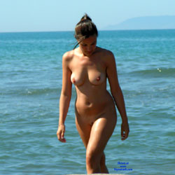 Nude Beach - Big Tits, Brunette Hair, Beach Voyeur