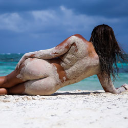 Sandy Body At The Beach - Brunette Hair, Exposed In Public, Full Nude, Long Legs, Naked Outdoors, Nude Beach, Nude Outdoors, Round Ass, Beach Voyeur, Hot Girl, Sexy Ass, Sexy Body, Sexy Figure, Sexy Legs