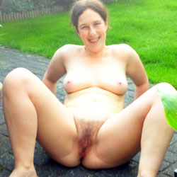My Hairy Wife Outside ! - Big Tits, Outdoors, Wife/Wives, Bush Or Hairy