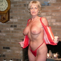 Kathy's Red Corset (2nd Contri) - Big Tits, Blonde, Lingerie, Mature
