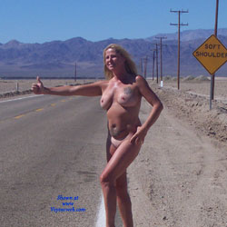 Fun In The Desert - Big Tits, Blonde, Public Exhibitionist, Public Place