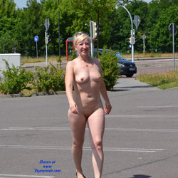Gorgona - Big Tits, Blonde Hair, Exposed In Public, Nude In Public , Nude In Public, Naked, Blonde Babe, Nudity
