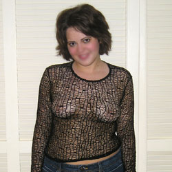 Black Fishnet - Brunette, See Through