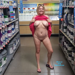 Road Trip - Blonde, Flashing, Public Exhibitionist, Public Place