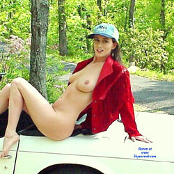 Naked Brunette On Car Wearing Hat - Big Tits, Brunette Hair, Exposed In Public, Full Nude, Hanging Tits, Naked Outdoors, Nipples, Nude In Nature, Nude In Public, Nude Outdoors, Showing Tits, Hot Girl, Sexy Ass, Sexy Body, Sexy Boobs, Sexy Feet, Sexy Figure, Sexy Girl, Sexy Legs