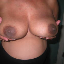 Medium tits of a neighbor - Monica