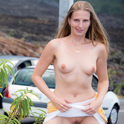 Bri - Honeymoon NIP 1 - Flashing, Public Exhibitionist, Public Place, Shaved