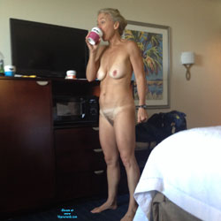 Wife Drinking Coffee In The Nude - Big Tits, Wife/Wives