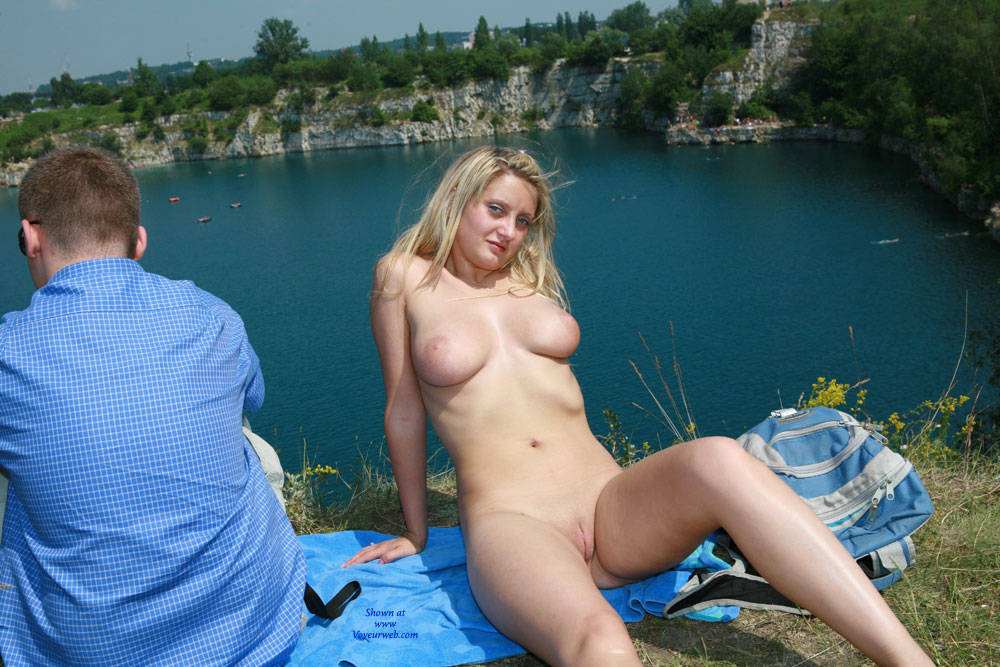 Big tits in the mountains