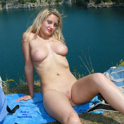 Excursion To The Mountains - Big Tits, Blonde Hair, Exposed In Public, Nude In Public, Shaved , Nude In Public, Horny, Sexy, Slut, Naked, Flashing