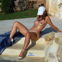 Nude and Seducing Vacation - Brunette Hair, Erect Nipples, Exposed In Public, Firm Tits, Heels, Long Legs, Nipples, Showing Tits, Small Tits, Topless, Sexy Body, Sexy Face, Sexy Figure, Sexy Girl, Sexy Legs, Sexy Panties