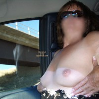 Sexy Grandma Flashing The Truckers Part 3.