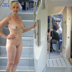 Naked Blonde Aboard - Big Tits, Blonde Hair, Erect Nipples, Exposed In Public, Firm Tits, Flashing, Full Nude, Milf, Nipples, Nude In Public, Sandals, Shaved Pussy, Showing Tits, Hairless Pussy, Hot Girl, Naked Girl, Sexy Body, Sexy Boobs, Sexy Figure, Sexy Girl, Sexy Legs, Sexy Woman