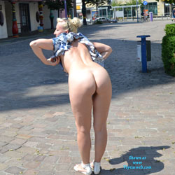Weekend In Magdeburg Part 2 - Blonde, Flashing, Public Exhibitionist, Public Place