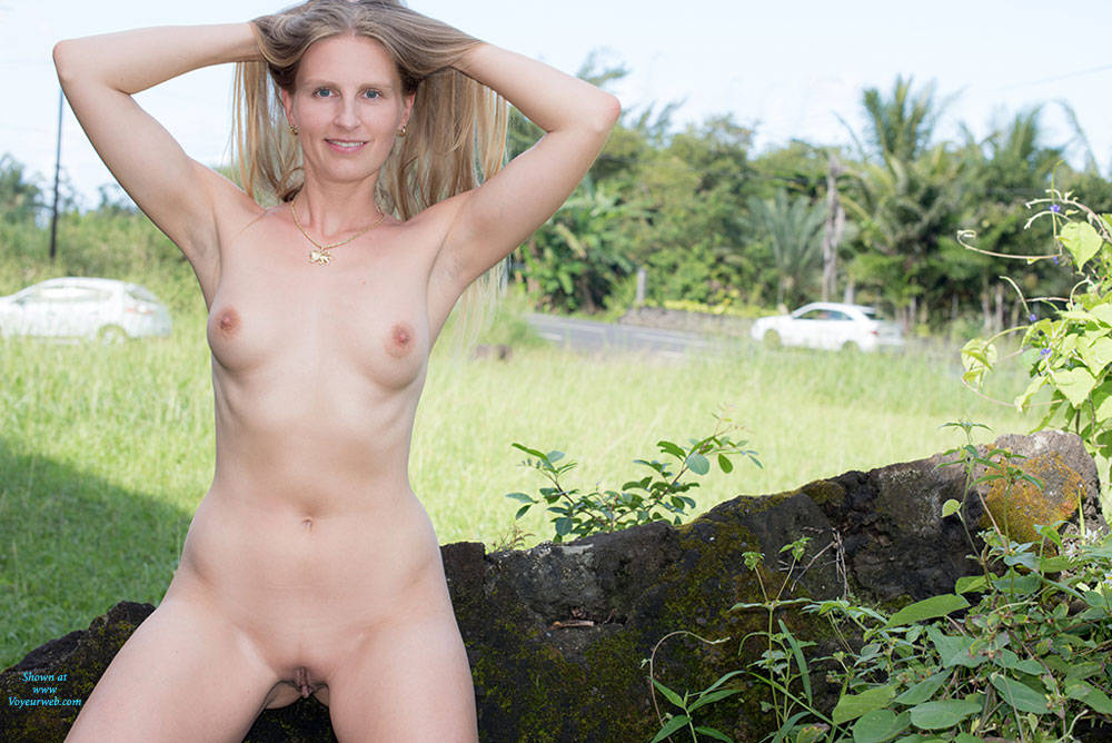 Big tits in nature
