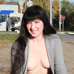 Wifey Nude - Public Exhibitionist, Medium Tits, Flashing, Firm Ass, Brunette, Big Tits, Public Place, Pussy, Shaved, Young Woman