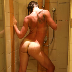 Posing In A Shower