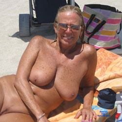 Dayana At The Beach - Beach, Big Tits, Mature