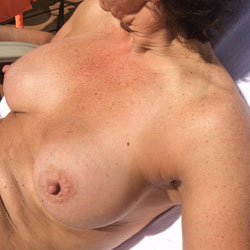 Outside Sunning  - Shaved, Outdoors, Big Tits, Wife/Wives