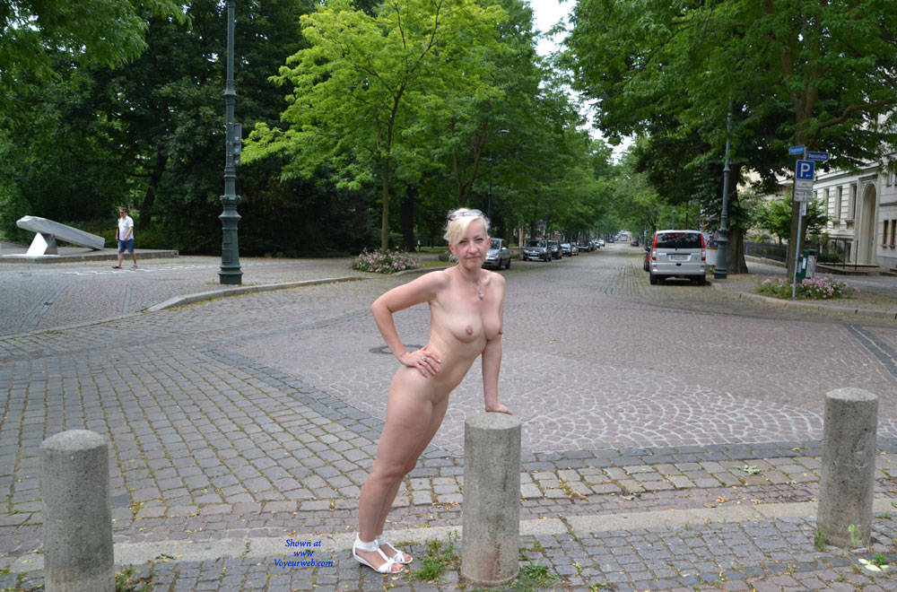 Pic #1 - Weekend in Magdeburg Part 4 - Blonde Hair, Exposed In Public, Flashing, Nude In Public , Blonde, Nude In Public, Flashing, Sexy