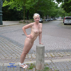 Weekend in Magdeburg Part 4 - Blonde, Flashing, Public Exhibitionist, Public Place