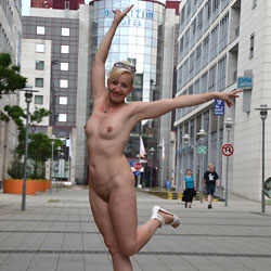 Weekend in Magdeburg Part 5 - Blonde, Flashing, Public Exhibitionist, Public Place