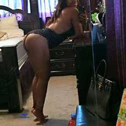 Wife Showing Off Her Lingerie - Lingerie, Ebony, Wife/Wives