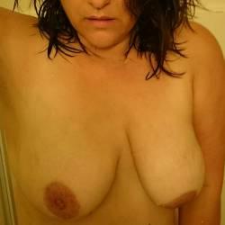 Medium tits of my wife - Angela