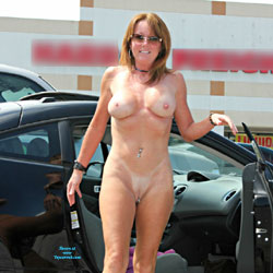 Naked Redhead Out From The Car - Big Tits, Exposed In Public, Firm Tits, Flashing, Heels, Naked Outdoors, Nipples, Nude In Public, Perfect Tits, Redhead, Shaved Pussy, Short Hair, Sunglasses, Hot Girl, Sexy Body, Sexy Boobs, Sexy Figure, Sexy Girl, Sexy Legs, Sexy Woman