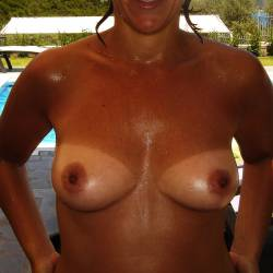 Small tits of my wife - Stefi