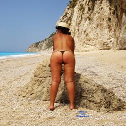 Sheer Thong - Beach, Big Tits, Wife/Wives