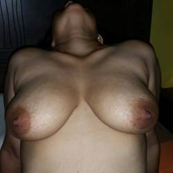 Large tits of my wife - My darling wife