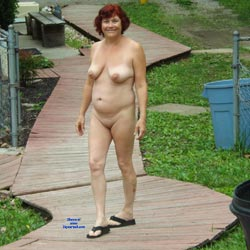 Stutting At Nudist Camp - Big Tits, Redhead